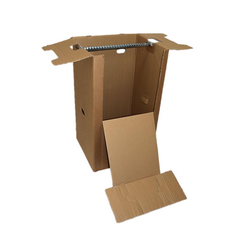 kleiderbox klein mit stabiler metallstange f r 25 kleiderb gel knitterfreier transport. Black Bedroom Furniture Sets. Home Design Ideas