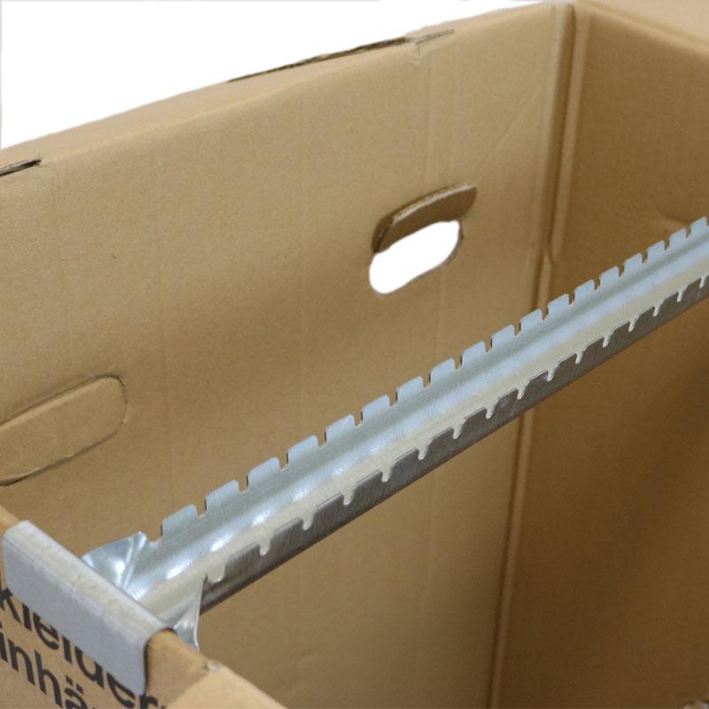 kleiderbox gro mit stabiler metallstange f r 25 kleiderb gel knitterfreier transport. Black Bedroom Furniture Sets. Home Design Ideas